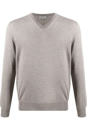 CANALI V-neck long-sleeved jumper