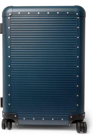 FPM Milano Spinner 68cm Leather-Trimmed Aluminium Suitcase
