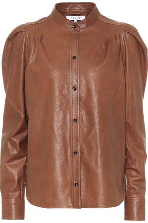 Frame Charlie leather blouse