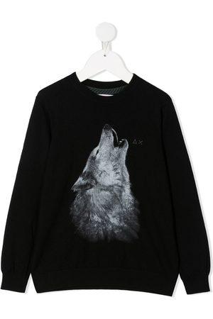 sun68 Wolf print sweatshirt