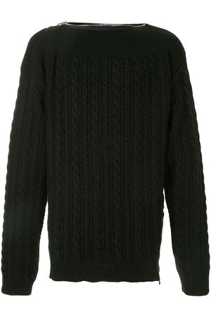 RAF SIMONS Cable-knit wool jumper