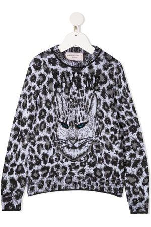 Alberta Ferretti Leopard print knitted jumper