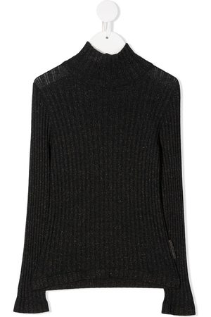 Brunello Cucinelli Metallic ribbed-knit jumper