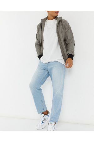 ASOS Relaxed tapered jeans in vintage light stone wash