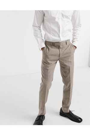 Moss Bros Moss London suit trousers with stretch in light