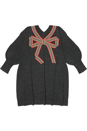 Burberry Merino wool and silk dress