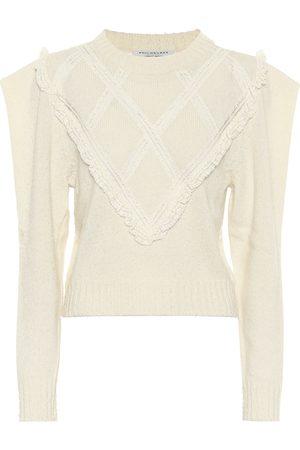 Serafini Lace-trimmed wool sweater