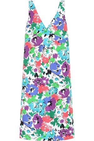 Plan C Floral twill minidress