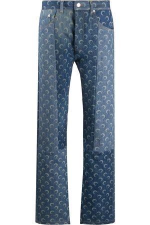 Marine Serre Mid rise moon print jeans