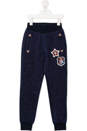MONNALISA Glittered track pants