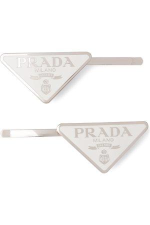 Prada Logo hair clips