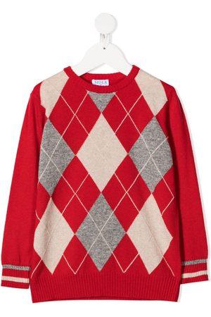 SIOLA Argyle check pattern jumper