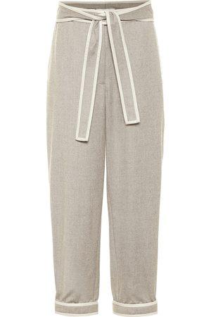 Stella McCartney Wool flannel carrot cropped pants