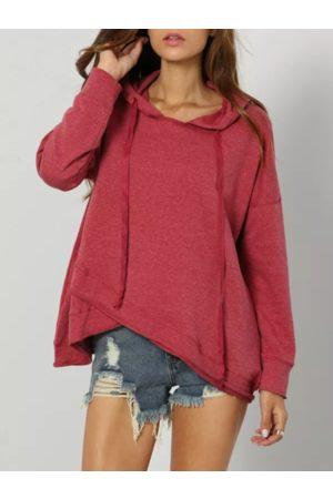 YOINS Crossed Front Design Pullover Long Sleeves Hoodie