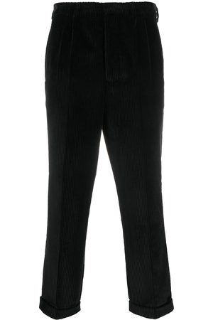 Ami Pleated carrot fit trousers
