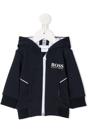 HUGO BOSS Logo print cargo hoodie