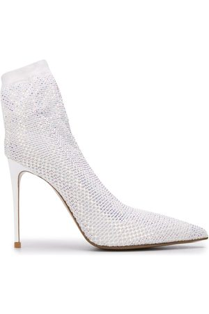 LE SILLA Embellished heeled sock boots