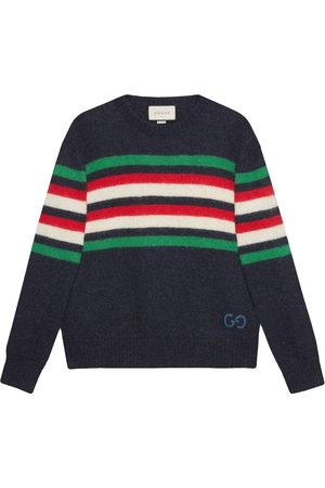 Gucci GG-detail striped jumper