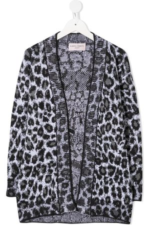 Alberta Ferretti Leopard-print open-front cardigan