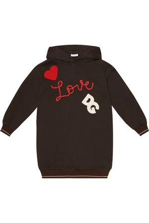 Dolce & Gabbana Hooded cotton sweatshirt dress
