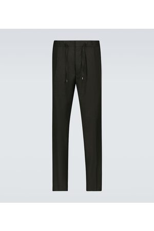 LARDINI Wool drawstring pants