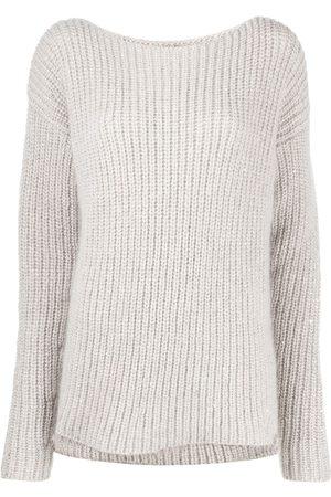 GENTRYPORTOFINO Boat neck cable knit jumper