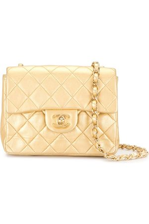 CHANEL 2002 diamond quilted flap chain crossbody bag