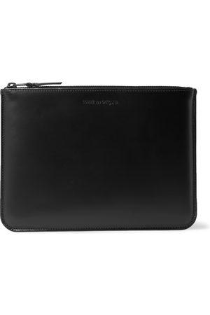 Comme des Garçons Logo-Debossed Leather Pouch