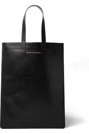 Comme des Garçons Logo-Print Leather Tote Bag