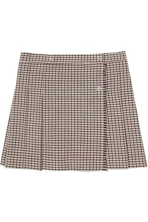 Il gufo Women Pleated Skirts - Pleated checked skirt