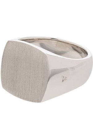 TOM WOOD Sterling Cushion signet ring