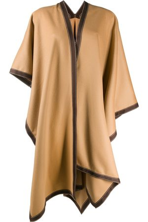 Balmain Draped wool poncho