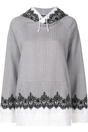 UNDERCOVER Lace trim hoodie