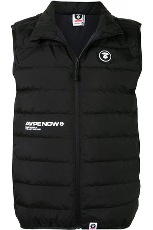 AAPE BY *A BATHING APE® Quilted logo patch gilet