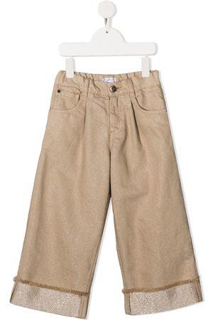 Brunello Cucinelli Turn-up wide-leg jeans