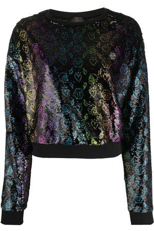 Philipp Plein Monogram sequin sweatshirt