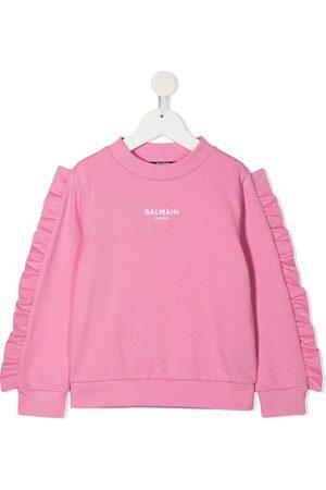 Balmain Ruffled logo sweatshirt