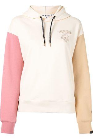 AAPE BY *A BATHING APE® Colour-block sequin logo hoodie