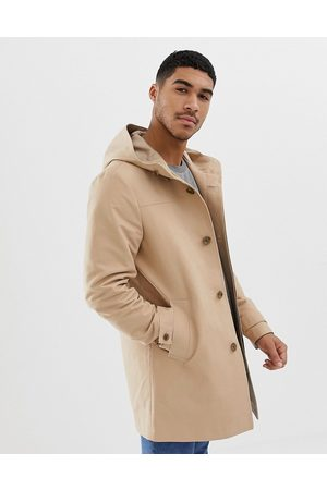 ASOS Shower resistant hooded trench coat in