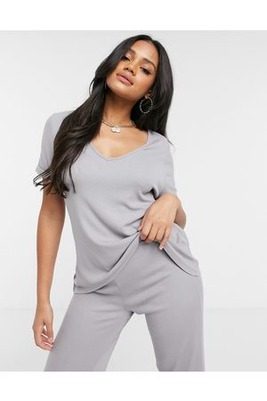 Missguided Women Wide Leg Pants - T-shirt and flared trouser set in