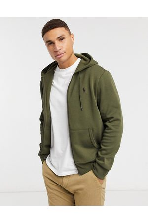 Polo Ralph Lauren Player logo zipthru hoodie in olive
