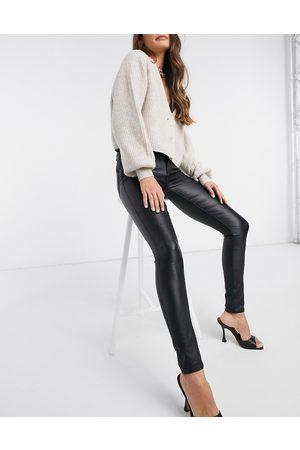 Vila Coated jeans in