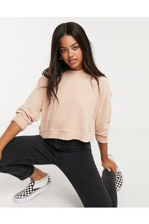 Miss Selfridge Ribbed crew neck sweatshirt in