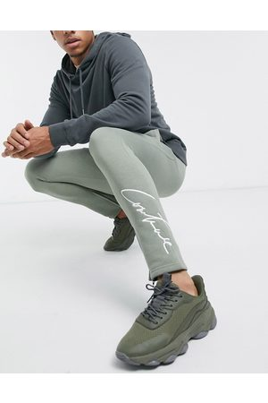 The Couture Club Essentials slim fit joggers in khaki
