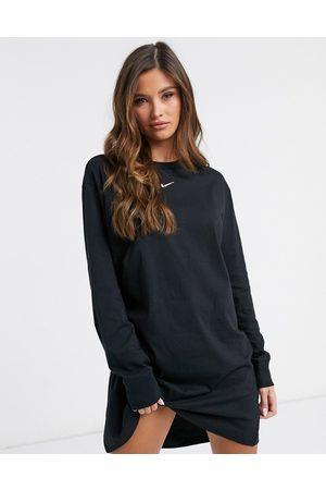 Nike Mini swoosh long sleeve t-shirt dress in