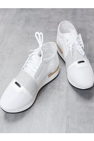 YOINS Mesh Lace Up Sneakers