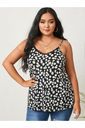 YOINS Plus Size V-neck Calico Sleeveless Cami