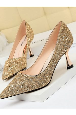 YOINS Shallow Mouth Sequins High Heels