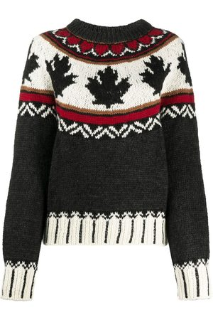 Dsquared2 Intarsia-knit long-sleeve jumper