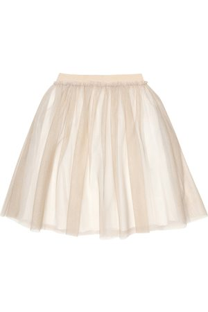 Il gufo Glittered tulle skirt